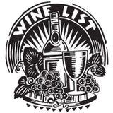 Gráfico do vinho e da uva ilustração stock