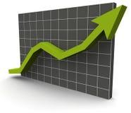 gráfico dos dados 3D sobre uma grade Fotografia de Stock