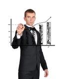 Gráfico dos lucros Fotos de Stock Royalty Free