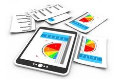 Gráfico dos relatórios comerciais Fotos de Stock