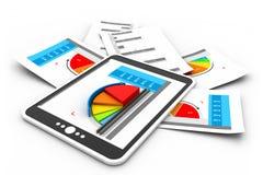 Gráfico dos relatórios comerciais Foto de Stock