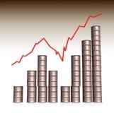 Gráfico dos tambores de petróleo Fotografia de Stock Royalty Free