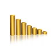 Gráfico dourado Fotografia de Stock