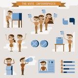 Gráfico e caráter da informação do voto ilustração stock