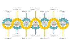 Gráfico e diagrama de fluxo ilustração stock