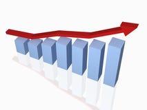Gráfico e diagrama de negócio Ilustração Stock