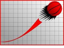 Gráfico e esfera Imagem de Stock Royalty Free