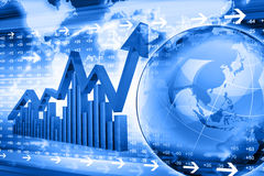 Gráfico económico del mercado de acción Fotos de archivo libres de regalías