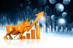 Gráfico económico del mercado de acción libre illustration