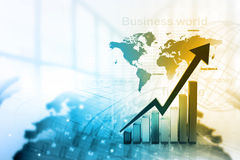 Gráfico económico del mercado de acción ilustración del vector