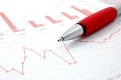 Gráfico econômico fotografia de stock royalty free
