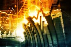 Gráfico econômico do mercado de valores de ação ilustração royalty free