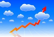 Gráfico elevado dos resultados Imagens de Stock Royalty Free
