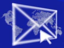 gráfico Email-abstrato Foto de Stock