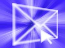 gráfico Email-abstrato Imagem de Stock