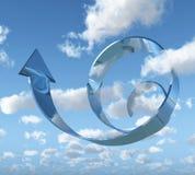 Gráfico en cielo nublado Foto de archivo
