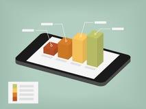 Gráfico en la pantalla móvil Imágenes de archivo libres de regalías