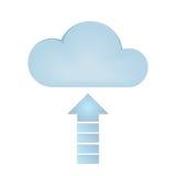 Carga por teletratamiento de la nube Stock de ilustración