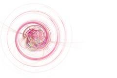 Gráfico - espiral rosado de neón stock de ilustración