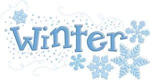 Gráfico estacional del invierno Fotografía de archivo