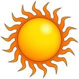 Gráfico estilizado brilhante de Sun Imagens de Stock