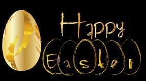 Gráfico feliz de easter do ovo dourado Fotos de Stock Royalty Free