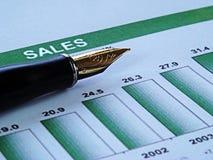 Gráfico financeiro Fotos de Stock