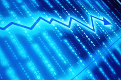Gráfico financeiro abstrato Imagem de Stock