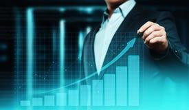 Gráfico financeiro Carta do mercado de valores de ação Conceito da tecnologia do Internet do negócio do investimento dos estrange Fotografia de Stock Royalty Free