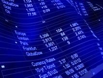 Gráfico financeiro com moedas Fotografia de Stock Royalty Free