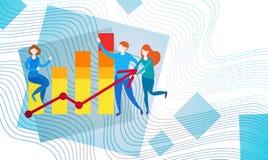 Gráfico financeiro da análise de Finance Business Data do contador de operação bancária dos empresários Imagens de Stock Royalty Free
