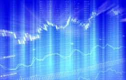 Gráfico financeiro dinâmico Fotografia de Stock Royalty Free