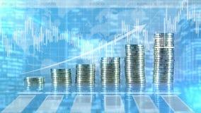 Gráfico financeiro e Infographics do crescimento ilustração stock