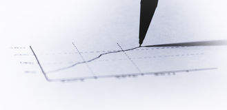 Gráfico financeiro Handmade Fotos de Stock