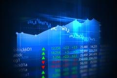 Gráfico financeiro no fundo do sumário da tecnologia Fotografia de Stock Royalty Free