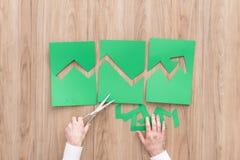 Gráfico financeiro verde Imagem de Stock Royalty Free