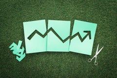 Gráfico financeiro verde Imagem de Stock