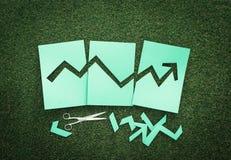 Gráfico financeiro verde Fotografia de Stock