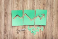 Gráfico financeiro verde Fotos de Stock