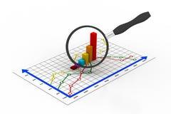 Gráfico financiero Fotos de archivo libres de regalías