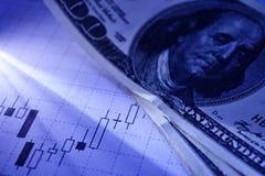 Gráfico financiero Fotografía de archivo libre de regalías
