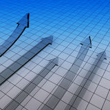 gráfico financiero 3D Fotografía de archivo libre de regalías