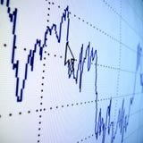 Gráfico financiero Imagenes de archivo