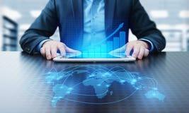 Gráfico financiero Carta del mercado de acción Concepto de la tecnología de Internet del negocio de la inversión de las divisas fotos de archivo libres de regalías