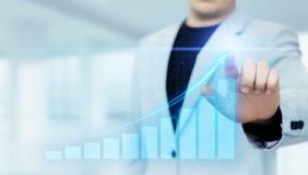 Gráfico financiero Carta del mercado de acción Concepto de la tecnología de Internet del negocio de la inversión de las divisas fotografía de archivo