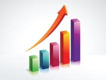 Gráfico financiero con las barras 3d Fotos de archivo libres de regalías