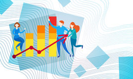Gráfico financiero del análisis de Finance Business Data del contable de actividades bancarias de los empresarios Imágenes de archivo libres de regalías