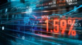 Gr?fico financiero del comercio de los n?meros y de las divisas del mercado de acci?n, negocio y datos del mercado de acci?n, con imagen de archivo libre de regalías