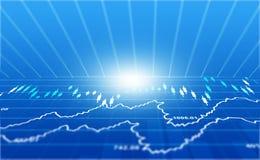 Gráfico financiero del mercado de acción imagenes de archivo