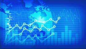 Gráfico financiero del mercado de acción Imagen de archivo libre de regalías